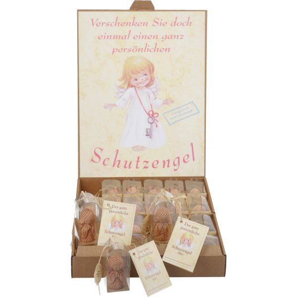 Figur Schutzengel, Keramik, 4 cm, im GK24 Stück sortiert im Thekendisplay