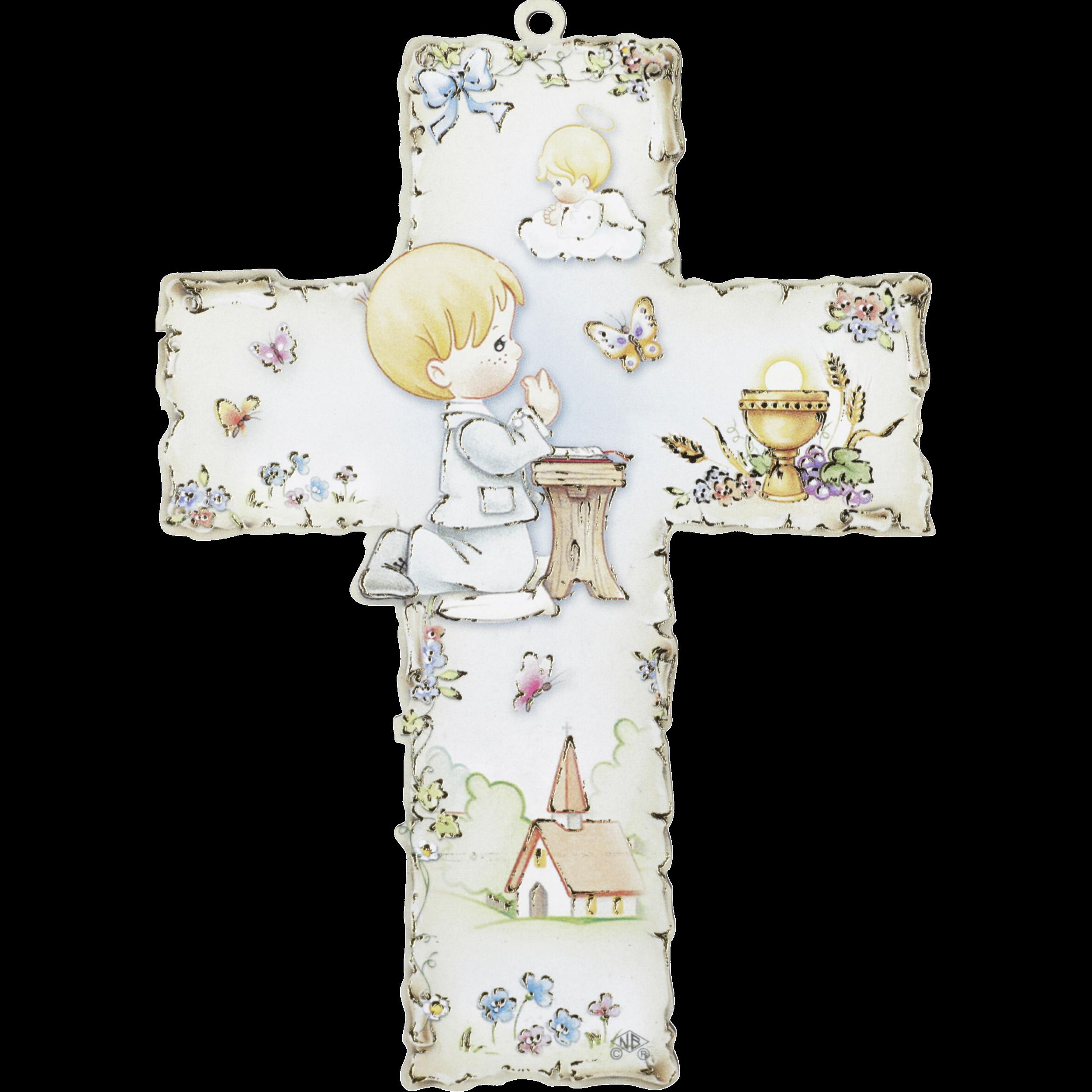 Baby Kinderkreuz Mit Tonengel Holzkreuz Motiv Lebensbaum