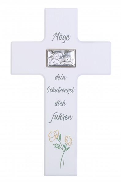 """Kinderkreuz """"Möge dein Sch...,""""20x12 cm Schrift braun"""