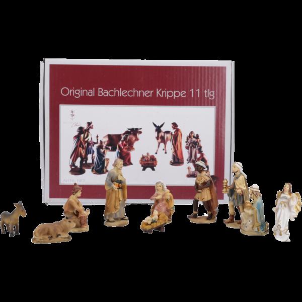 """Krippenfiguren """"Bachlechner"""", Kunstharzcoloriert, 7 cm, 11-teiliges Set im GK"""