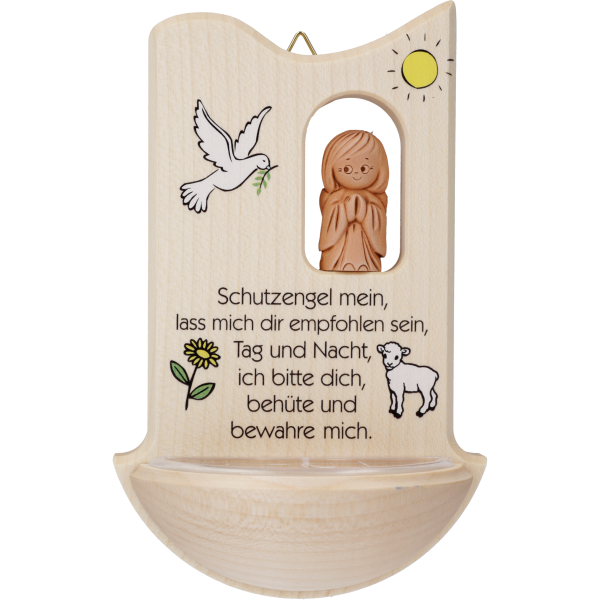"Kinderweihkessel m. Tonengel Schutzengel ""Schutzengel mein.."""