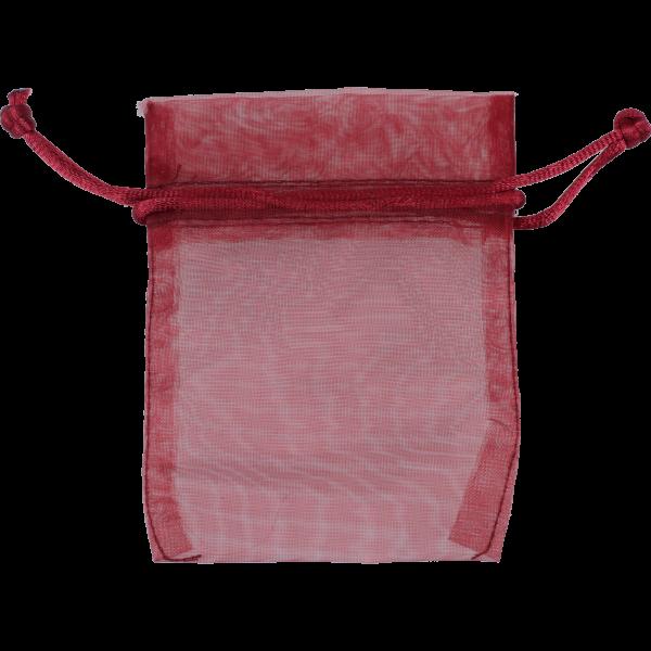 Geschenksäckchen, bordeaux VE = 10 StückOrganza 10 x 7 cm
