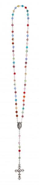 Rosenkranz Glasperlen multicolor