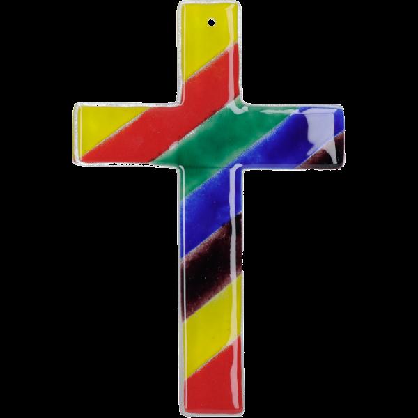 """Glaskreuz """"Regenbogen"""""""