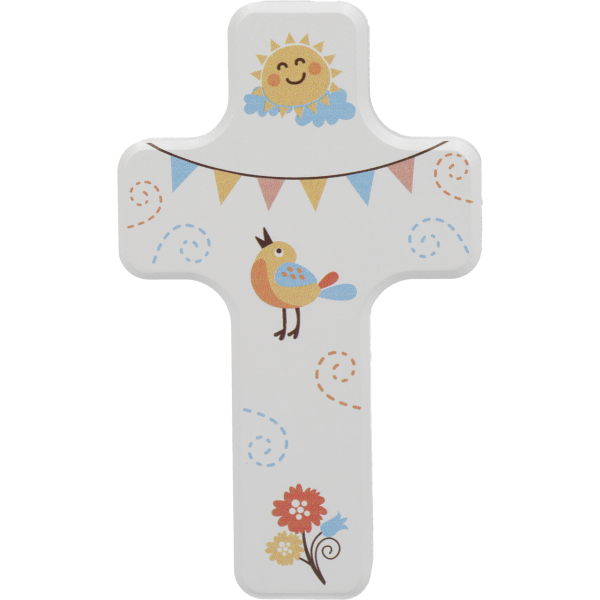 Kinderkreuz Sonne/Vögel, mini
