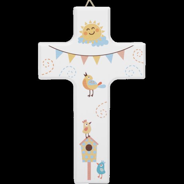 Kinderkreuz Sonne/Vögel, klein