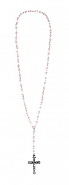 Rosenkranz Mini, Glasperle rosa