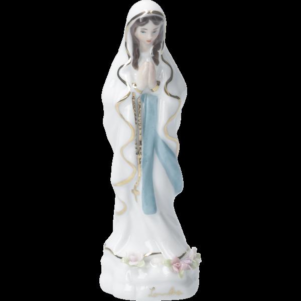 Figur Lourdes Madonna, Porzellan,weiß, coloriert, 12 cm, im Karton