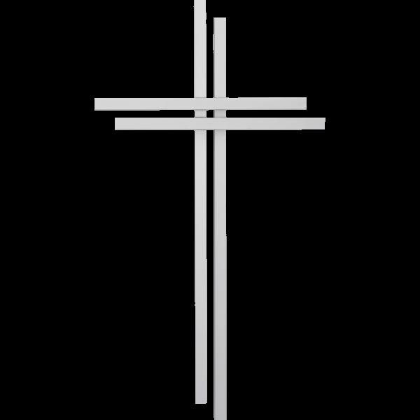 Wandkreuz 35x21cm,AluminiumAusführung modern