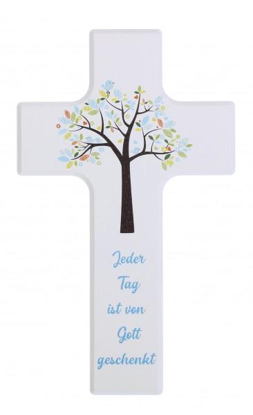 Kinderkreuz 15x9cm schrift blau