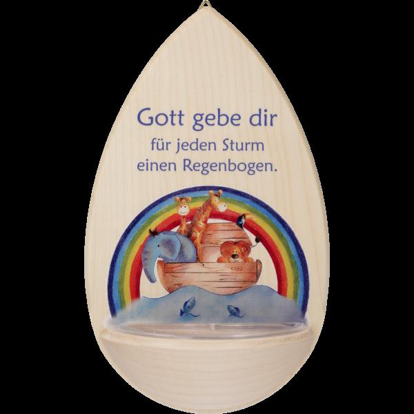 "Kinderweihkessel  ""Gott gebe Dir ...""Ahornholz, 15 cm, im GK"
