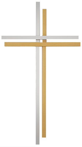 Holzkreuz Aluminium Ahorn
