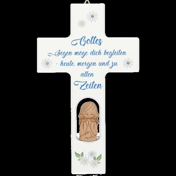 """Kinderkreuz """"Gottes segen..."""" m. Tonenge"""