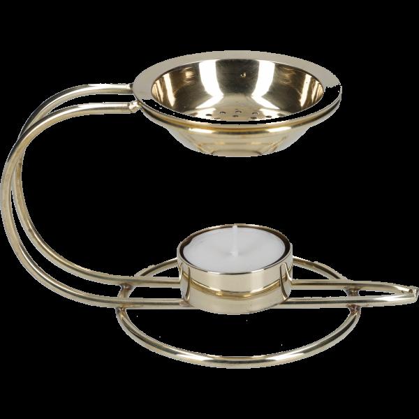 Weihrauchbrenner mit TeelichtMessing, 8,5 cm, im Karton