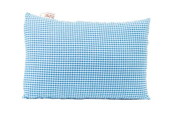 Kissen m. Zirbenfüllung blau/weiß