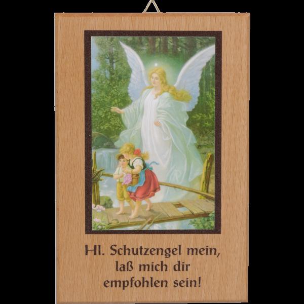 """Holzspruch 9 x 13 cm -Schutzengel-Text: """"Schutzengel ."""""""