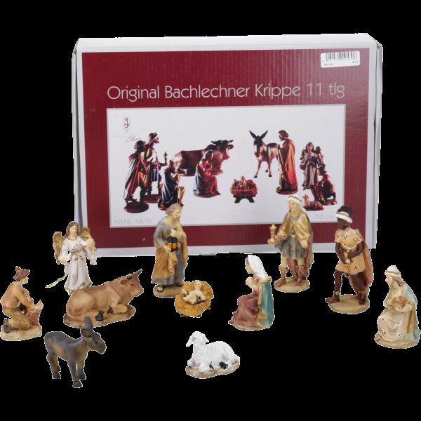 """Krippenfiguren """"Bachlechner"""", Kunstharzcoloriert, 10 cm, 11-teiliges Set im GK"""