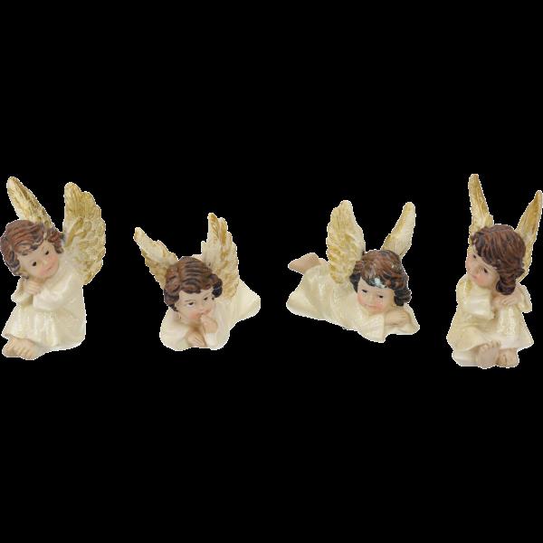 Engelchen liegend/sitzend 4 Stück