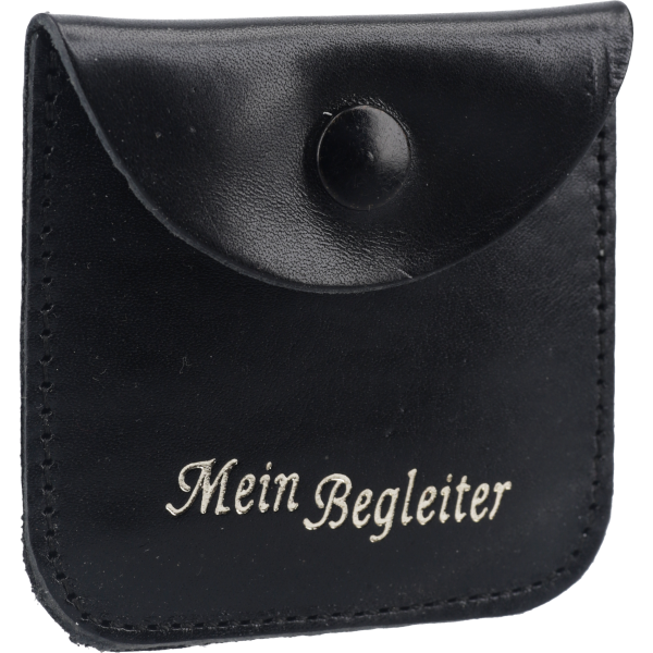 Rosenkranzetui -Begleiter-Leder, schwarz, 6,5 x 6,5 cm