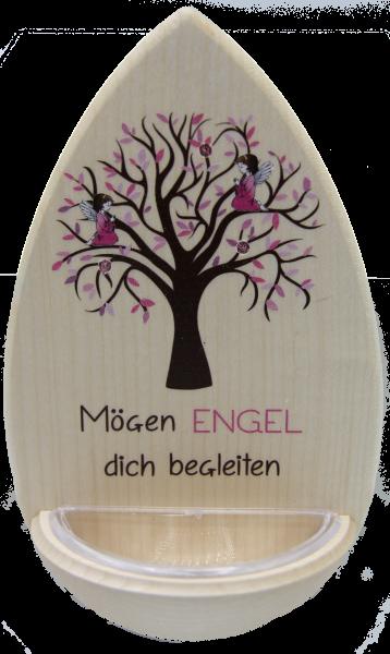 """Weihwasser Kessel """"Engel Rosa""""m. Edelsteinchen"""