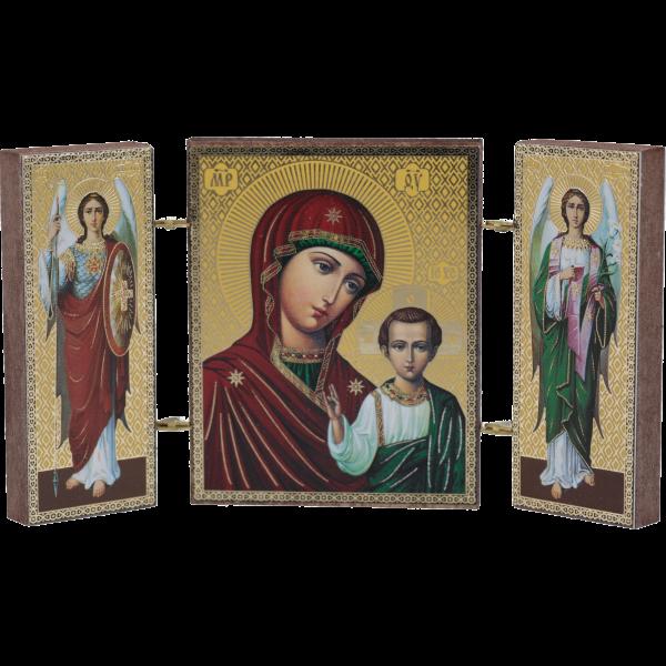 "Magnet Ikone ""Jesus"", ca.4,5 x 5,5, cmTriptychon"