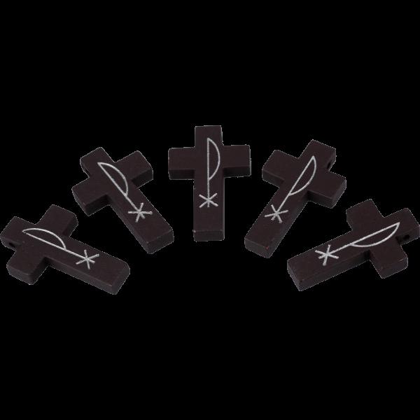Holzkreuzchen dunkelbraun