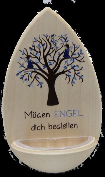 """Weihwasserkessel """"Engel Blau""""m. Edelsteinchen"""