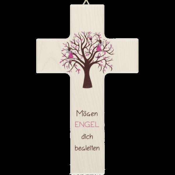"Kinderkreuz ""Mögen Engel...."" RosaLebensbaum"