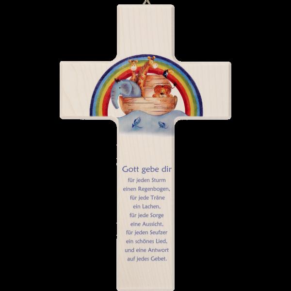 "Kinderkreuz ""Gott gebe dir...""Ahornholz, natur, 20 x 12 cm"