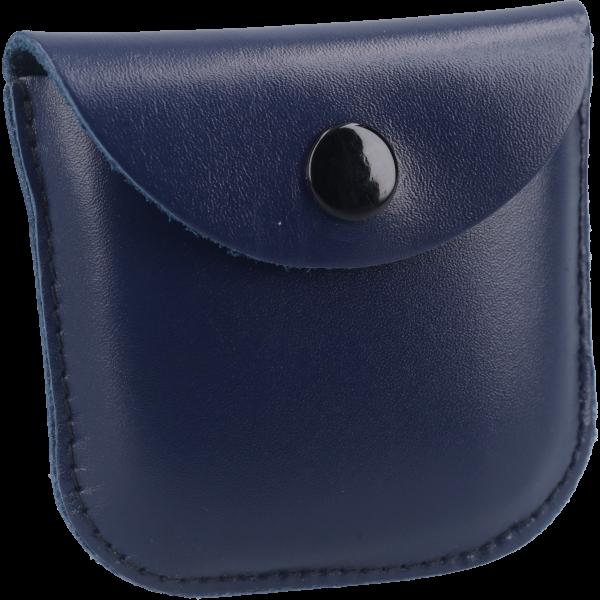 Rosenkranzetui mit StegLeder, blau, 6 x 6 cm